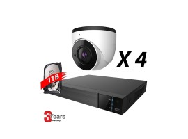 4 Channel, 4 IP 5MP Cameras, EyeOnet Kit, Eyeball