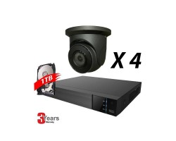 4 Channel, 4 IP 5MP Cameras, EyeOnet Kit, Grey