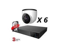 8 Channel, 6 IP 5MP Cameras, EyeOnet Kit, Eyeball