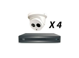 4 Channel 5MP 4-In-1 HD Analog Kit, White