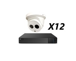 16 Channel, 12 HD 5MP Cameras, EyeOnet Kit, White