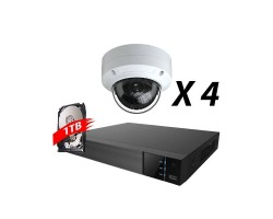 4 Channel, 4 IP 5MP Cameras, EyeOnet Kit, White