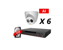 8 Channel, 6 HD 5MP AI Cameras, DH OEM Kit, White