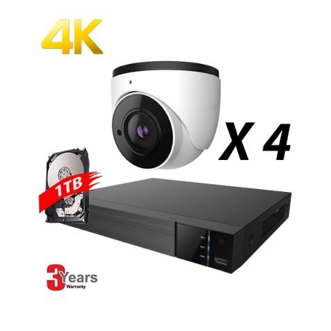 EyeOnet 4 Channel 4K IP Fixed Kit