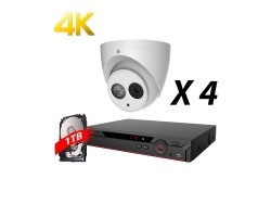 4 Channels 4MP Real Time IP Kit