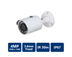 4MP HDCVI WDR IR Bullet Camera