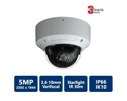 EYEONET CAM-IP6395W-VF-S 5MP Network Dome Camera, starlight
