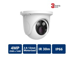 EYEONET CAM-IP6194W-Z 4MP Network 30m IR Water-proof Turret Camera