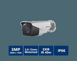 3MP Motorized VF EXIR Bullet Camera, 2.8mm~12mm