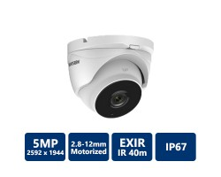Hikvision 5MP HD Motorized EXIR Turret,. 2.8-12mm