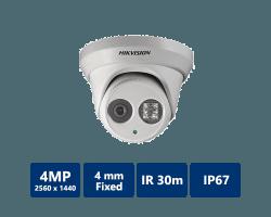 Hikvision DS-2CD2342WD-I 4 Megapixel Outdoor EXIR Network Turret Dome, 4mm