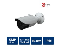 EYEONET 5 MP 4-In-1 IR Water-resistant Bullet, 3.3-12mm varifocal lens