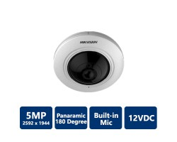 Hikvision 5MP Panoramic 180 Built-in Mic Fisheye