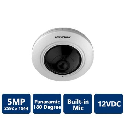 Hikvision 5MP Panoramic 180 Built-in Mic Fisheye