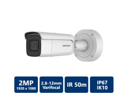 Hikvision 2 MP True WDR Vari-focal Network Bullet Camera, 2.8-12mm Varifocal Lens