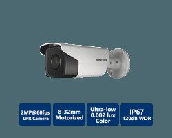 Hikvision 2MP Ultra-Low Light License Plate Capture & Recognition Bullet, 8-32mm motorized lens