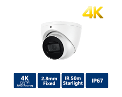 4K Starlight 4-In-1 50m IR Eyeball, 2.8mm Fixed