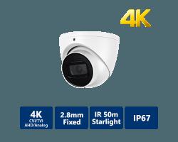 4K Starlight 4-In-1 50m IR Eyeball, 2.8mm Fixed