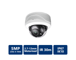 5MP HDCVI IR Dome Camera 2.7-12mm motorized lens