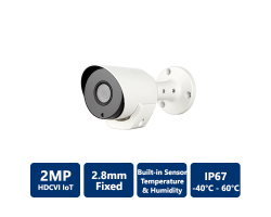 2MP HDCVI Temperature & Humidity Camera, 2.8mm Fixed