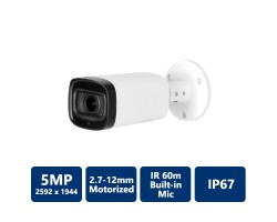5MP HDCVI IR Bullet Camera 2.7-12mm motorized lens