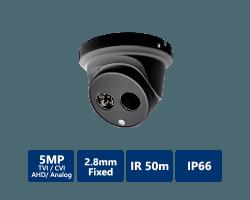 4-In-1 5MP Ultra HD Turret, 2.8mm Fixed, Black