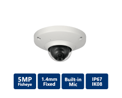5MP Panoramic Network Fisheye Camera