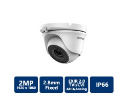 Hikvision 2MP Outdoor EXIR 2.0 Turret, 2.8mm Fixed