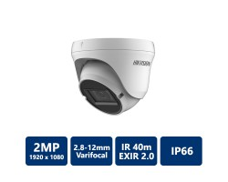 Hikvision 2MP Outdoor EXIR 2.0 4-In-1 Turret, 2.8-12mm Varifocal