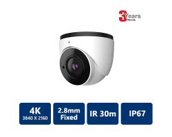 EYEONET 4K Ultra HD IP IR Water-resistant Eyeball, 2.8mm Fixed