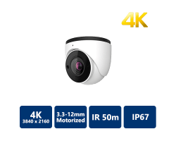 EYEONET 4K IP IR Water-Proof Eyeball, 3.3-12mm Motorized
