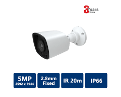 EYEONET 5MP IP IR Water-resistant Bullet, 2.8mm Fixed