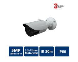 EYEONET 5MP IP IR Water-resistant Bullet, 3.3-12mm Motorized