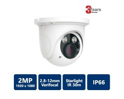 EYEONET 2MP IP IR Water-proof Starlight Eyeball, 2.8-12mm Varifocal Lens