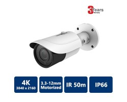EYEONET 4K 50m IR Network Water-proof Bullet Camera, 3.3-12mm