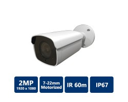 2MP WDR HDCVI IR Bullet Camera, 7-22mm Motorized Lens