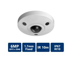 6MP Panoramic Network IR Fisheye Camera, 1.7mm Fixed Lens