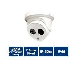4-in-1 5MP Ultra HD Turret Camera, 2.8 mm, Fixed Lens