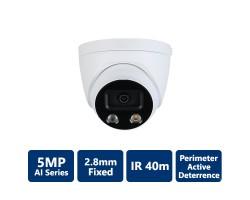 5MP True WDR 40m IR IP AI Turret, 2.8mm Fixed