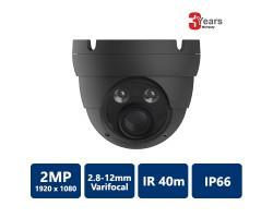 2 MP 4-in-1 IR Water-proof varifocal Eyeball, 2.8-12mm, Grey