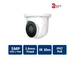 5MP IP IR Water-resistant Eyeball, 2.8mm Fixed Lens