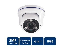 2MP 4-in-1 Varifocal Vandal Dome, 2.8-12mm