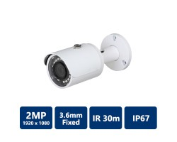 2MP IR Mini Bullet, 3.6mm Fixed Lens