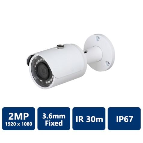 2MP IR Mini Bullet, 3.6mm Fixed Lens