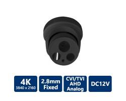 4-IN-1 4K Ultra HD Turret, Grey, 2.8mm Fixed Lens