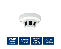 2MP 4-In-1 HD Analog Spy Camera with a Smoke Detector Case