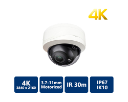 4K True WDR IP IR Motorized Vandal Dome