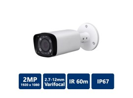 2MP Water-proof Bullet, IR60M, 2.7-12mm