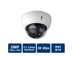 2MP Vandal IR Dome, 2.7-12mm