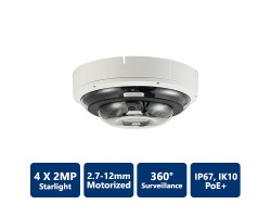 4x2MP IP Starlight 360° Motorized Dome Camera